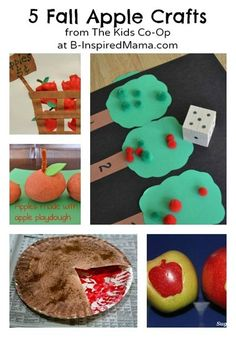 What is your favorite part of fall?  I love the apples!  Here are 5 fun APPLE CRAFTS from The Kids Co-Op at B-InspiredMama.com