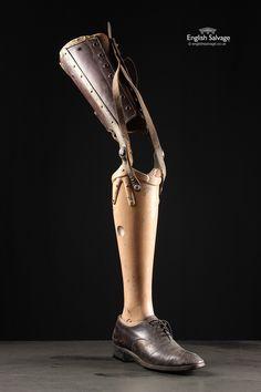 Vintage J E Hanger Patent Prosthetic Leg 1945