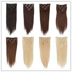 Fashion+Women+Hair+Extension+Unprocessed+Top+Quality+Brazilian+Virgin+Hair+Clip-in+Hair+Extension+100%+Human+Hair+Soft+and+Smooth+Silky+Straight+–+USD+$+28.99