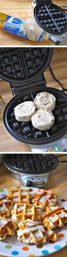 Cinnamon roll waffles | ChocoBerry