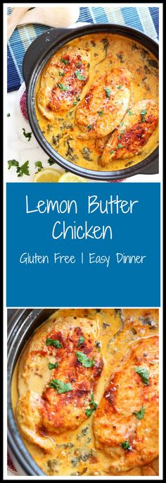 This savory Lemon Butter Chicken is just over the top! Full of flavor, every bite is unforgettable. The lemon cream sauce mixed with fresh garlic and Parmesan cheese pairs perfectly with the tender and juicy chicken. So savory...this dish will leave you coming back for more! #chicken #lemon #lemonchicken #quickdinner #easymeal #dinner   recipesworthrepeating.com