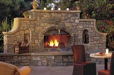 ornate outdoor fireplace | Outdoor Fireplace And Patio Pictures...Great Styles And Materi'ALS!