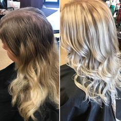 Before and After - Blonde Balayage