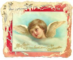 Wings of Whimsy: Boy Cherub Scrap - free for personal use #vintage #ephemera #printable