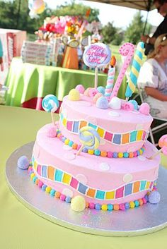 adorable candyland cake / party!