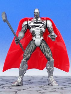 DC Justice League of America STEEL John Henry Irons Action Figure JLA Hasbro #Hasbro