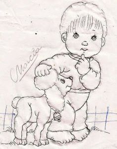 .                                                                                                                                                                                 Mais Baby Applique, Baby Embroidery, Baby Painting, Fabric Painting, Adult Coloring, Coloring Books, Tracing Pictures, Children Sketch, Black And White Sketches
