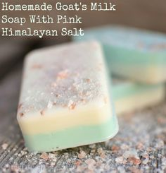 Homemade Goat's Milk Soap With Pink Himalayan Salt--MP