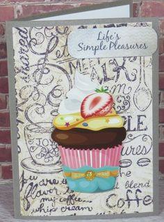 Handmade Greeting Card Gift Any Occassion Birthday Cupcake
