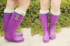 Boot Cuffs...cute!