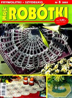 Moje robotki 2005-05 Crochet Books, Crochet Doilies, Crochet Lace, Crochet Stars, Crochet Magazine, Views Album, Author, Knitting, Crafts