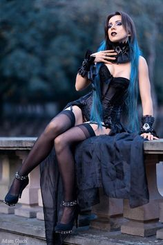 Model/MUA: Elizabeth  Photography: Adam Photography  Choker & Cuffs: Vilindery  Welcome to Gothic and Amazing |www.gothicandamazing.com