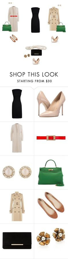 """Bleck dress"" by vvejrkova on Polyvore featuring мода, Canvas by Lands' End, Massimo Matteo, Olsen, Marni, Kate Spade, Burberry, Oasis, Dune и Marc Jacobs"