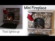 Miniature Fireplace Tutorial (Creating Dollhouse Miniatures)
