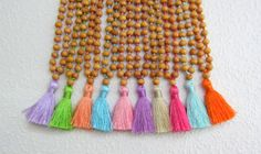 Mia Girls Necklace, Cute Beaded Girls Tassel Necklace, Childrens Fashion Jewelry, Handmade Jewelry for Children, Gifts for Girls Bridesmaid by midgetgems on Etsy