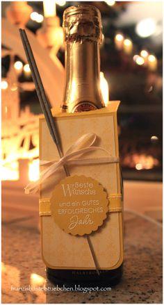 Franzi´s Bastelstübchen: Mit Wunderkerzen und Sekt ins neue Jahr