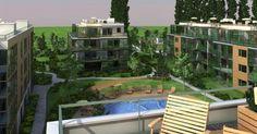 Egzotikus lakópark a Római-parton