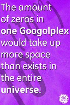 A googol is 10 to the googol-th power. #mindblown