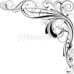 Clip art of element for design corner flower vector 1525r 143392 - Wedding Invite Designs On Pinterest Art Illustrations