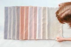Eucalyptus-dyed linen by Belinda Evans | Alchemy