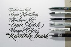 pinterest.com/fra411 #calligraphic - Workshop Brush pen Letters by Jackson Alves, via Behance