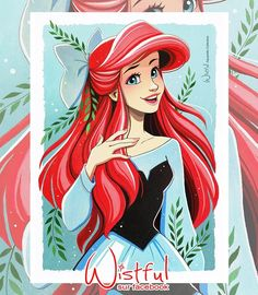 Ariel (Drawing by Wistful.Art @Facebook) #TheLittleMermaid