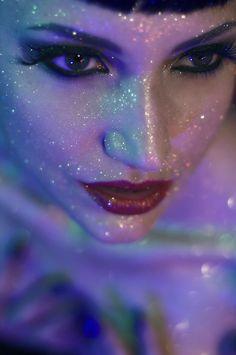 Fairy glitter - etherial - celestial - moon makeup halloween