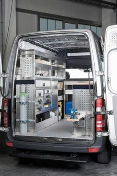 Sortimo racking into a Ford Transit Custom   Sortimo Racking in 2019   Ford transit, Van racking