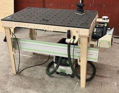 Festool Tools, Tool Workbench, Mobile Workbench, Woodworking Workbench, Woodworking Workshop, Workshop Storage, Workshop Organization, Diy Workshop, Learn Woodworking