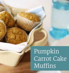 Freezer friendly pumpkin carrot cake muffins