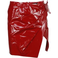 Isabel Marant Anders Knot Mini Skirt ($380) ❤ liked on Polyvore featuring skirts, mini skirts, red, knot skirt, short mini skirts, short miniskirt, asymmetrical skirts and red asymmetrical skirt