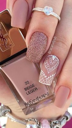 Nails, look up the super cinch nail suggestion reference 929 Fancy Nails, Trendy Nails, Diy Nails, Cute Nails, Pink Nail Designs, Acrylic Nail Designs, Nagellack Trends, Best Acrylic Nails, Manicure E Pedicure