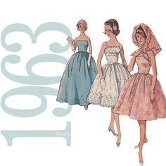 1960s Dress Vintage Pattern  B31  Simplicity 4931