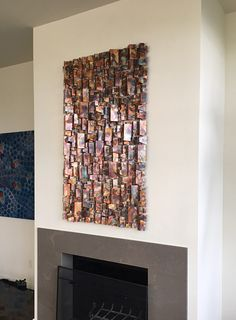 Copper wall sculpture with flame colors. www.searlesart.com #copperwallart #copperart #copperwallsculptures #copperpatina