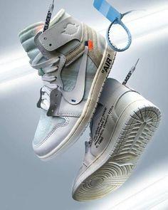How to get Nike Off-White Air Jordan 1 OG White sneakers - Original Nike Off-White - Shoes Off White Blazer, Off White Shoes, White Sneakers, Shoes Sneakers, Sneakers Style, Yellow Shoes, Women's Shoes, Jordan 1, Jordan Nike
