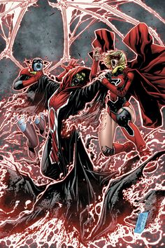 Red Lanterns: The Judge vs Bleez and Supergirl