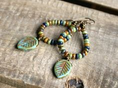 Autumnal Czech Glass Beaded Earrings £14.00