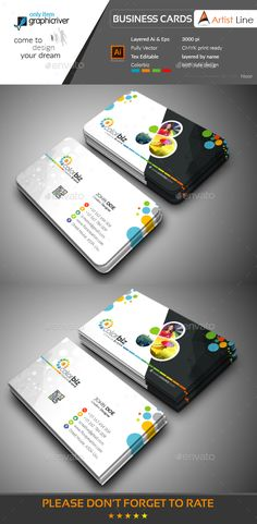 Modern Business Card Template Vector EPS, AI Illustrator
