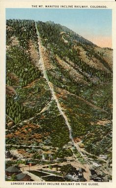 The Manitou Incline near Colorado Springs, Colorado is said to be one of the most challenging and unique trails in the Country. Olympic athletes and military personnel train on this vertical wonder that gains 2,000 feet in elevation over less than 1 mile.