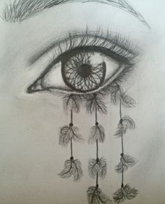 Dreamcatcher eye drawing