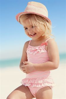 Pink Stripe Swimsuit (3mths-6yrs)