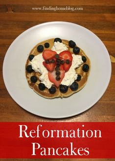 Make these easy Reformation Pancakes to celebrate the lesser-known holiday on October Martin Luther Reformation, Reformation Day, Good Food, Yummy Food, Pancakes And Waffles, Party Time, Oatmeal, October 31, Cooking