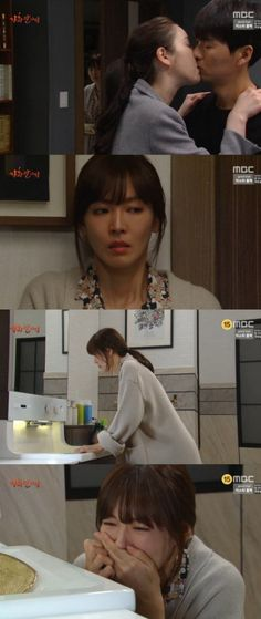 [Spoiler] 'Happy Home' Kim So-yeon cries out in sorrow after witnessing a kiss between her husband Lee Pil-mo and Lee So-jeong-I