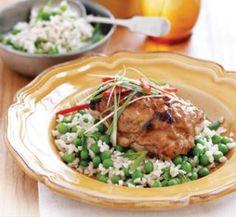 Harissa and yoghurt chicken.  http://www.healthyfood.co.nz/recipes/2011/july/harissa-and-yoghurt-chicken