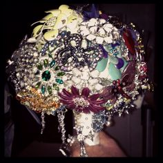 Brooch bouquet....amazing personal touch for any brides wedding day!!