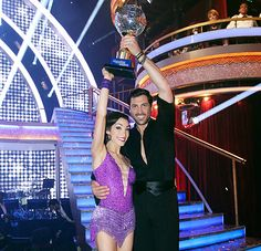 """Will you dance next season?  Maks: Emotionally I have no idea how this is possible twice. I have to connect with the person and when I connect it's do or die. When the season's over, I'm depleted. Right now, I have nothing left. When we won, I felt an abundance of emotion from everyone. It's overwhelming and I feel it, I feel it.  (Will  they dance together after the show?) """"We will, but not immediately, not right now!"""""""