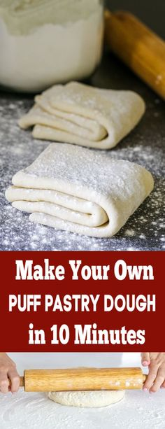 Quick Puff Pastry Dough Recipe - Momsdish Quick Puff Pastry Dough Recipe - Momsdish,Breads So easy, just 4 ingredients to make the best Puff Pastry Dough! appetizers and drink pastry recipes cabbage rolls recipes cabbage rolls polish Pastry Dough Recipe, Puff Pastry Dough, Frozen Puff Pastry, Puff Pastry Recipes, Easy Puff Pastry Desserts, Pastries Recipes, Puff Pastries, Best Pastry Recipe, Butter Puff Pastry