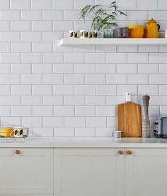 Metro White Tiles For Kitchen Topps