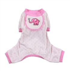 $33.95 - These ultra-soft #pajamas will keep your #dog so warm and cozy. They are a MUST-HAVE, #sleepwear item for your #pets. Available in #PINK or #BLUE in sizes XXS-L.  #nursery #puppies #dogs #puppyshower #doglovers #gifts #shop #paw #sleep #elephant #cute