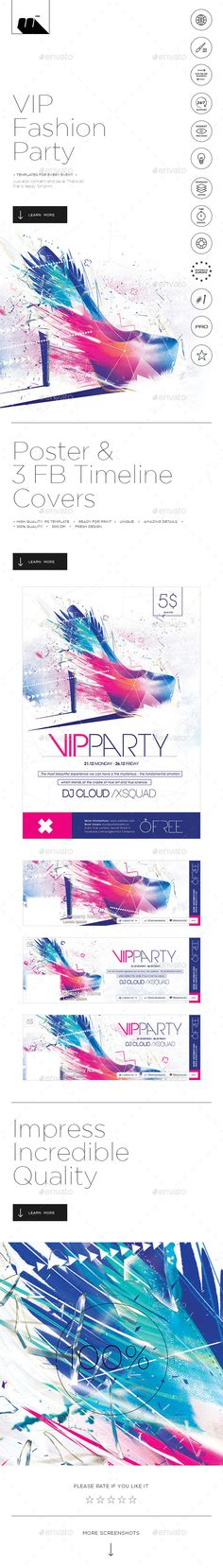 VIP Fashion Party Poster